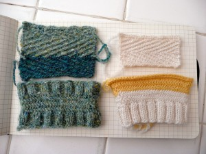 Two kinds of Herringbone stitch