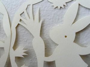 Paper cut bunny