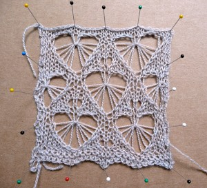 Heart lace swatch