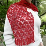 Fragile Heart, lace scarf