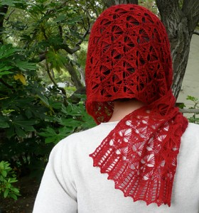 Fragile Heart lace scarf