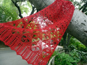 Fragile Heart lace scarf